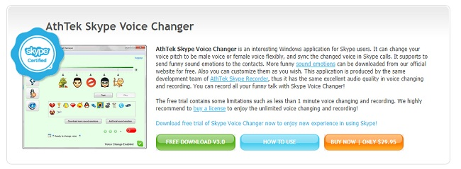 Athtek Skype Voice Changer Software