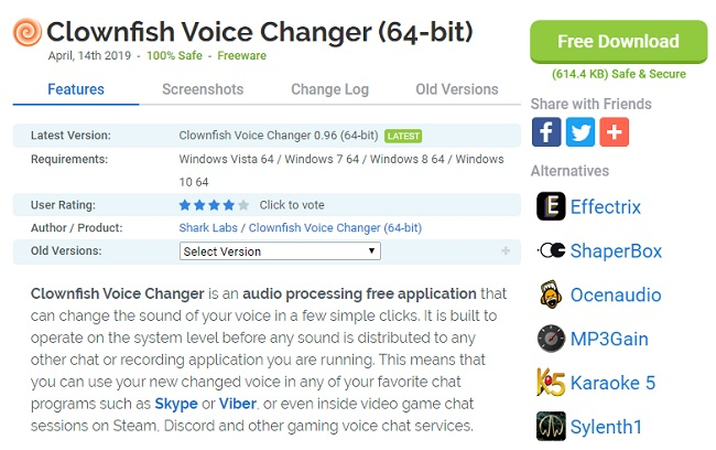 Clownfish Voice Changer Software