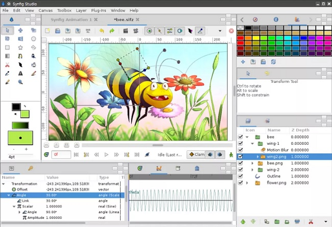 Synfig Best 2D Animation Software