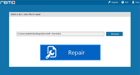 Browse and Repair the file by clicking on the repair button