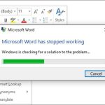 Fix Microsoft Word Not Responding Error