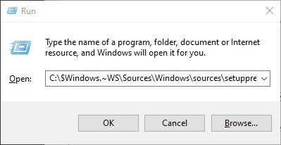 Resume Upgrade by running Setupprep.exe to fix Modern Setup Host Has Stopped Working in Windows 10