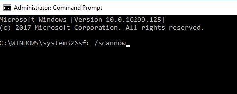 Type sfc /scannow in Command Prompt run as adminstrator