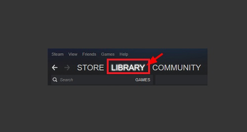 Click on Library Option on Your Steam Client