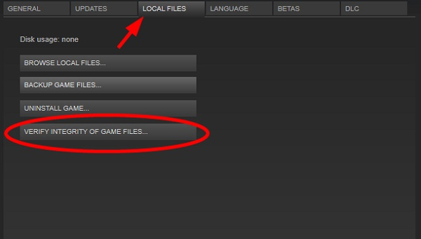 Select Verify Integrity of Game Files to solve the VAC was Unable to Verify the Game Session error