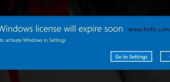 Fix Your Windows License Will Expire Soon