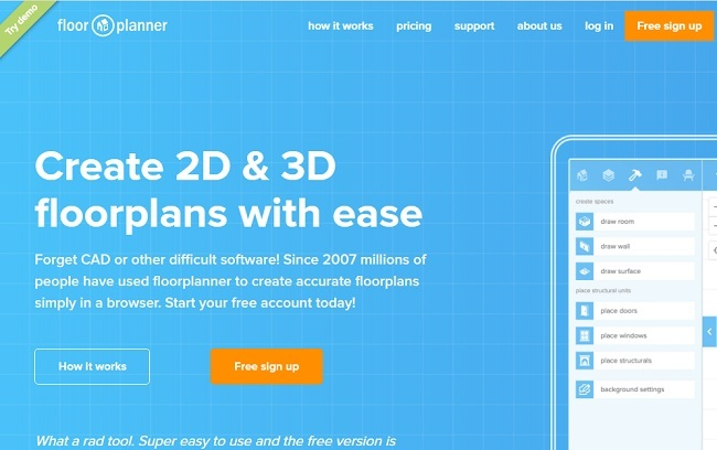 Floorplanner Best Free home Design Software