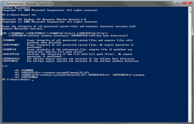 perform system file checker - Fix MMC Could Not Create The Snap-in