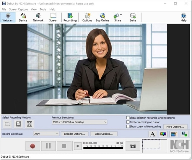 Debut Video Capture Best Webcam Software to Use