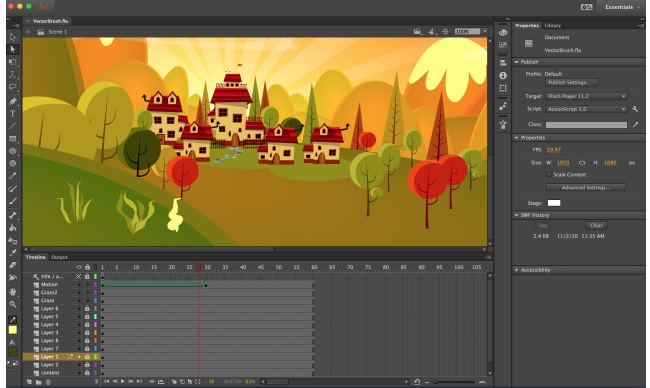 Adobe Animate CC whiteboard animation software